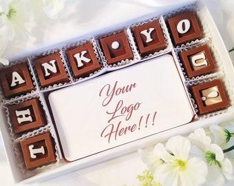 Custom Corporate Chocolate Gift  - Your Logo in Chocolate - Unique Corporate Gift - Corporate Branded Chocolate