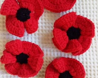 Crochet Rememberence Poppies