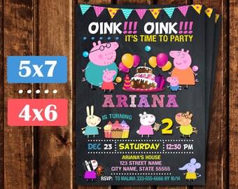 Peppa Pig Invitation, Peppa Pig Birthday Invitation, Peppa Pig Birthday, Peppa Pig Party,  Peppa Pig Birthday Printable invite.