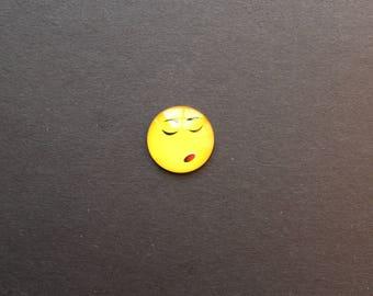 "Cabochon 25mm glass Smiley Emoji emoticon ""pensive"" original"