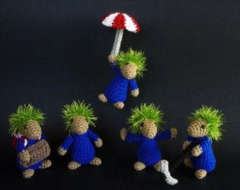 Lemmings video game inspired plushies