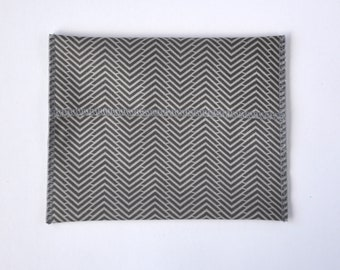 Reusable sandwich and snack bag, neutral herringbone print, eco-friendly lunch