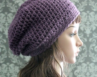 Crochet PATTERN - Slouchy Hat Pattern - Crochet Hat Pattern - Crochet Pattern Baby - Includes Baby, Toddler, Child, Adult Sizes - PDF 119