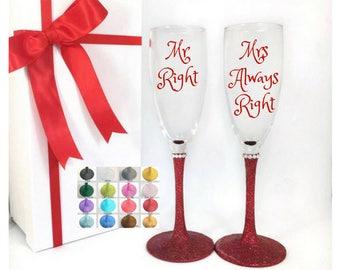 Champagne flutes wedding, wedding champagne flutes, wedding champagne glasses, wedding toasting glasses, funny wedding gift, wedding toast