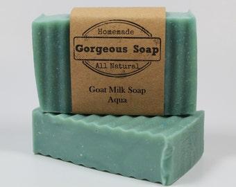 Aqua Goat Milk Soap - All Natural Soap, Handmade Soap, Homemade Soap, Handcrafted Soap