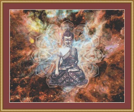 Buddha Cross Stitch Pattern - Digital Download PDF Files