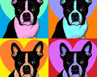 Custom Pet Portrait Pop Art- 11 x 14""