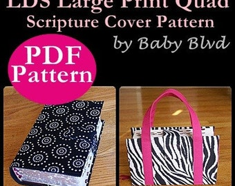 PATTERN/ Tutorial for LDS Large Print Quad Scripture Cover