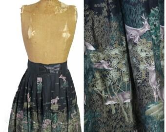 1960s Novelty Print Austrian Skirt