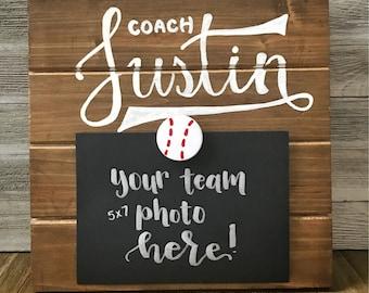 Coach Picture Frame - Coach Team Gift - Team Photo Frame