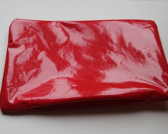Red vinyl bag pouch