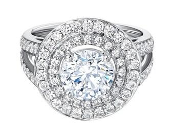 Engagement Ring 3ct Moissanite Ring Moissanite Engagement Ring 14K White Gold Moissanite Wedding Rings Diamond Wedding Ring Set 3 Carat