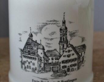 Vintage Rastal Freie Reichsstadt Bopfingen Beer Mug / Stoneware /german bar been stein