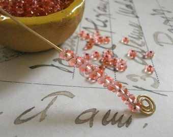 18g Farfalle Beads 4mm x 2mm Czech Glass Seed Beads Silver Lined Transparent Pink Bowtie Bead Butterfly Bead Peanut Bead Dogbone Bead