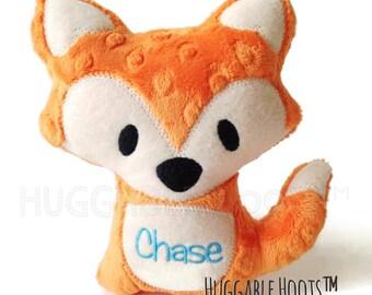 Stuffed Fox - Plush Fox - Stuff Animal - Orange Fox - Personalized Stuffed Animal - Fox Pillow - New Baby Gift  - Nursery Decor - Soft Toy