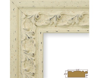 Craig Frames, 11x14 Inch Antique White Picture Frame, Swedish Country, 2.125-Inch Wide (5272041114)