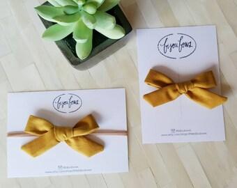 Mustard Bow on Clip/HB