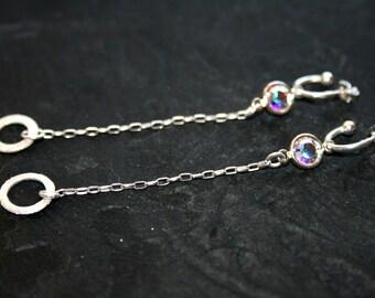 JOI Swarovski Crystal and Sterling Earrings