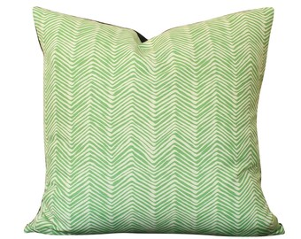 Alan Campbell Petite Zig Zag Pillow Cover in Green