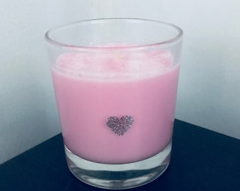 Pink champagne scented candle 30cl