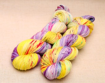 hand dyed yarn 'Heart's Delight' Aran