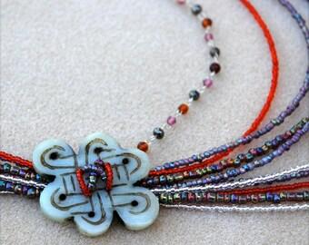 Bohemian Style Multi Strand Boho Chic Necklace