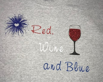 Red, Wine and Blue T-shirts, pick color and size