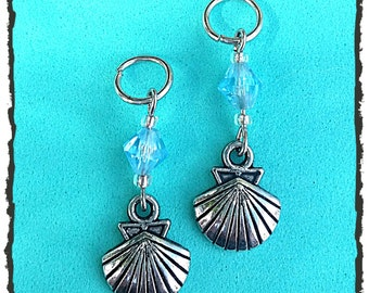 Hearing Aid Jewelry:  Silver Clam Shells