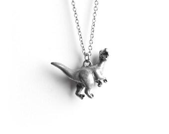 Velociraptor, Dinosaur Necklace, Jurassic World, Dinosaurs, T-rex, Totem Necklace, Gifts for Him, Unisex Necklace, Charm