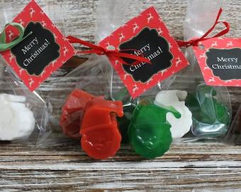 20 SANTA Soap Party Favors (10 Cello bags 2 to each bag)