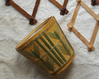 Vintage Wicker Basket Planter