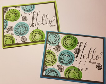 Friendship Card, Greeting Card for Friends, Friendship Greetings, Just Because, Cards for Friends, Hello Swirly