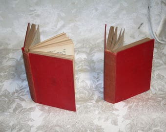 """Mark Twain More Than 100 Years Old!  Vintage 1907 Harper & Brothers """"A Tramp Abroad"""" Two Volumes! Red Cover!  Two Books / One Price!"""