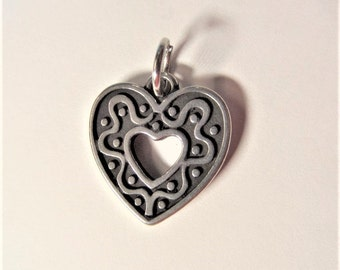 24mm 2CT. Stainless Steel Heart Charms, Y16