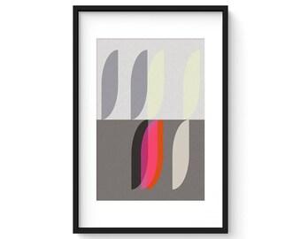 MODUS - VITALITY no.1 - Giclee Print - Mid Century Modern Danish Modern Minimalist Cubist Modernist Abstract Eames
