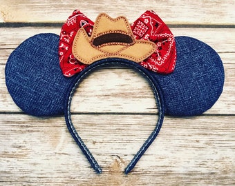 Country Cowgirl mouse ears