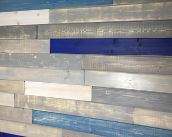 Wood Wall Paneling - Reclaimed Wood and Pine Wood - 25sqft - FREE SHIPPING