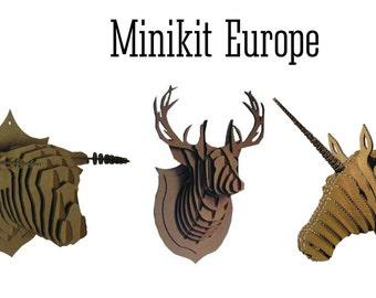 Minkit Europe: Trophy deer, Bull and horse Unicorn
