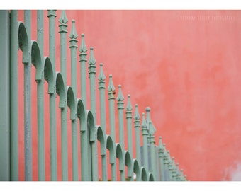Architecture Photography Old San Juan Puerto Rico Travel Photography Abstract Photograph Pastel Pink Mint Home Decor Minimalist Fine Art