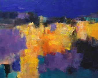 August 2013 - 1 - Original Abstract Oil Painting - 72.7 cm x 72.7 cm (app. 28.6 inch x 28.6 inch)