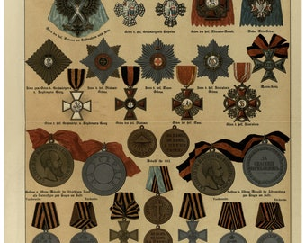 Awards of Russian Empire 1890, Deubner August, Military Medals