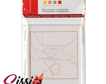 Acrylic block set for rubber stamps scrapbooking stamp-clear transparent 9 x 7 cm