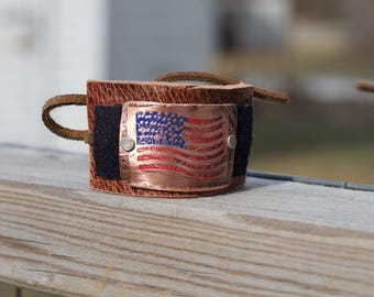American Flag Accessories - Hair Bun Cuff Makers - 4th of July Party - 4th of July Gift Ideas - Patriotic Military Gift Ideas - Made in USA