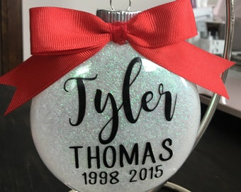 Memorial in memory christmas ornament christmas tree ornament in loving memory loved one remembrance
