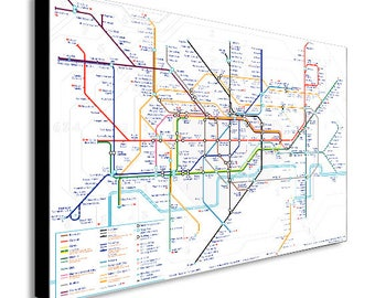 London Underground Tube Map Canvas Wall Art Print - Various Sizes