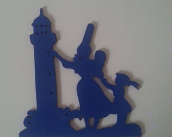 Wall decoration, Breton and lighthouse