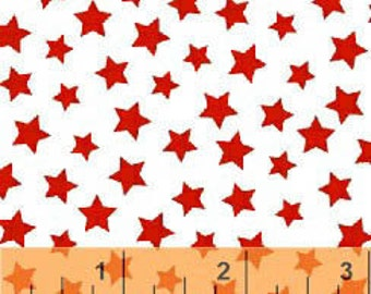 Windham Basics - Brights Stars Red from Windham Fabrics