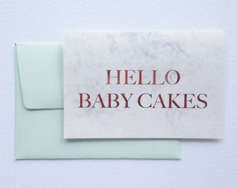 Hello Baby Cakes Greeting Card