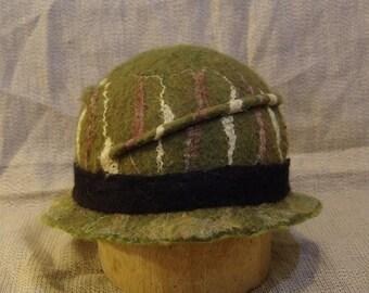 Forest Iris Felted Adjustable Hat