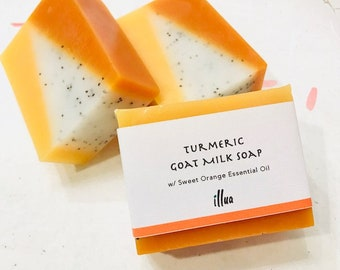 Turmeric Goat Milk Soap, Turmeric Soap, Natural Soap, Revitalize Facial Soap, Acne Soap, Gift for Her, Soap Gift, Exfoliate, Moisturize